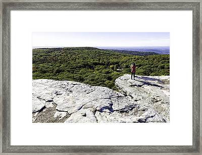 Sams Point Overlook Framed Print