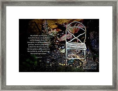 1 Samuel 2 V 8 Framed Print