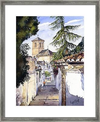 San Bartolome Albaicin Granada Framed Print by Margaret Merry