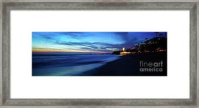San Clemente Ca Sunset Panorama Photo Framed Print