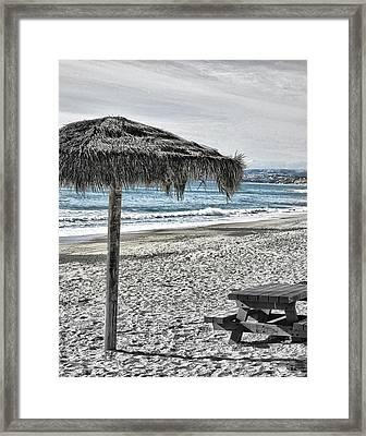 San Clemente Tiki Framed Print by Rosanne Nitti