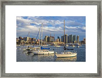 San Diego Harbor Framed Print by Peter Tellone