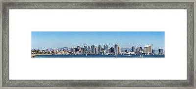 San Diego Skyline Framed Print by Peter Tellone