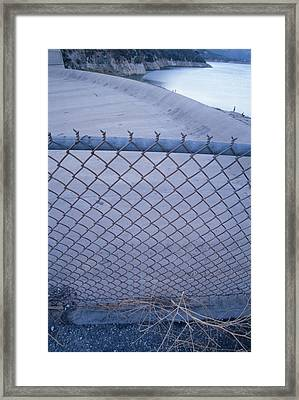 San Felicia Dam - Lake Piru Framed Print by Soli Deo Gloria Wilderness And Wildlife Photography
