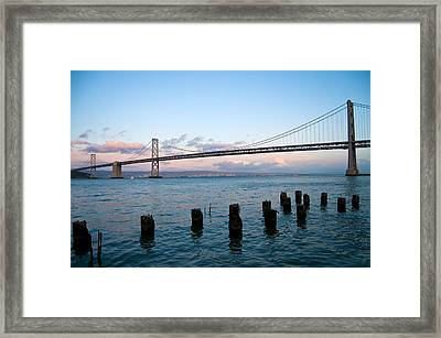 San Francisco Bay Bridge Framed Print by Mandy Wiltse