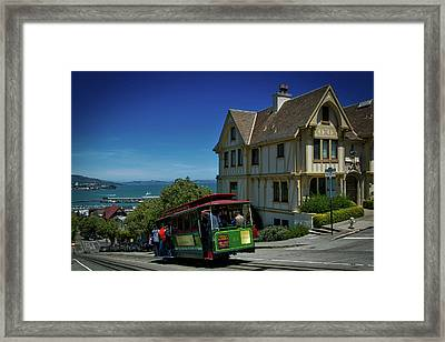 San Francisco Cable Car Framed Print by Mountain Dreams