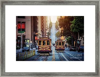 San Francisco Cable Cars Framed Print by JR Photography