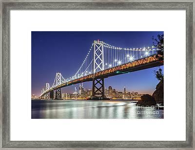 San Francisco City Lights Framed Print by JR Photography