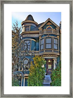 San Francisco Victorian Framed Print by Paul Owen
