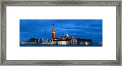 Framed Print featuring the photograph San Giorgio Maggiore Church Night by Songquan Deng