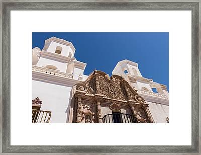San Xavier Mission - Tucson Arizona Framed Print