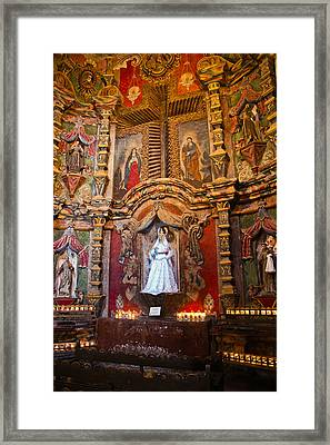 San Xavier Side Altar Framed Print