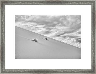 Framed Print featuring the photograph Sand And Clouds by Hitendra SINKAR
