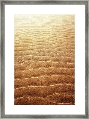 Sand Background Framed Print by Carlos Caetano