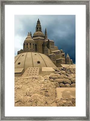 Sand Castle Framed Print by Sophie Vigneault