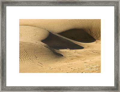 Framed Print featuring the photograph Sand Dune by Yew Kwang