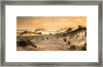 Sand Dunes At Sunset, Atlantic City Framed Print