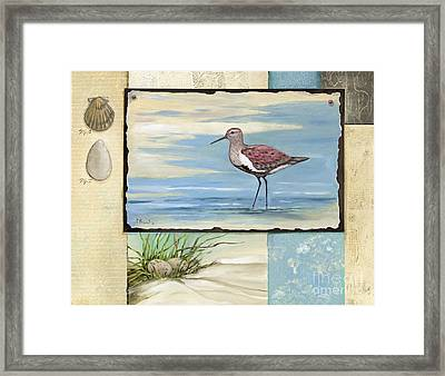 Sandpiper Collage II Framed Print by Paul Brent