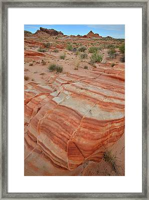Framed Print featuring the photograph Sandstone Stripes In Valley Of Fire by Ray Mathis