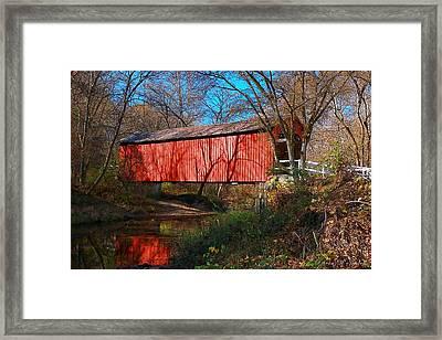 Sandy /creek Covered Bridge, Missouri Framed Print by Steve Warnstaff