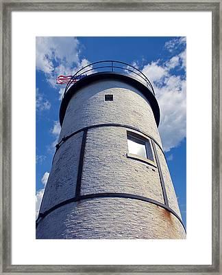 Sandy Neck Lighthouse Framed Print by Charles Harden