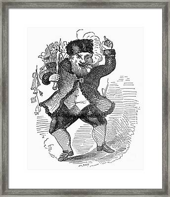 Santa Claus, 1849 Framed Print by Granger