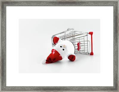 Santa Claus Crash Framed Print