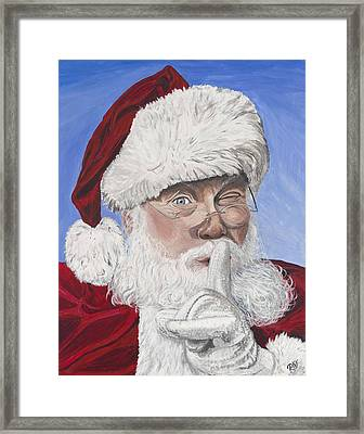 Santa Claus Framed Print by Patty Vicknair
