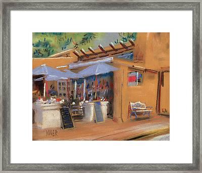 Santa Fe Cafe Framed Print