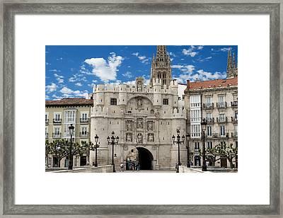 Santa Maria Arch - Old City Entry - Burgos Spain Framed Print