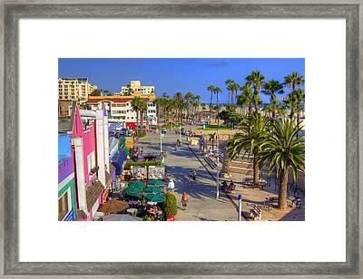 Santa Monica Beach Framed Print by Ricky Barnard