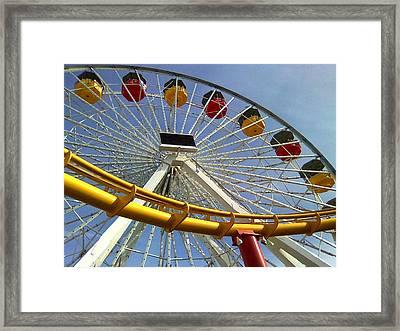 Santa Monica Pier Amusement Park Framed Print