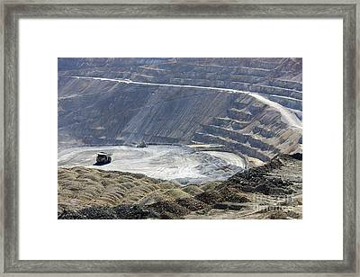 Santa Rita Copper Mine Framed Print by Inga Spence
