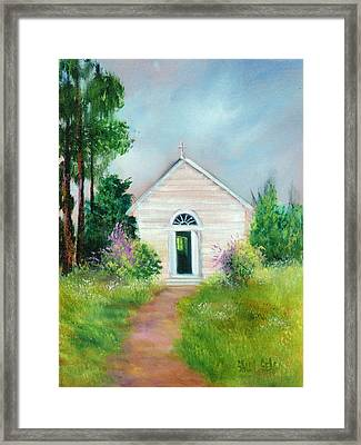 Santa Rosa Chapel Framed Print by Sally Seago