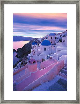 Santorini - Greece Framed Print