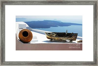 Framed Print featuring the photograph Santorini Greece by Bob Christopher