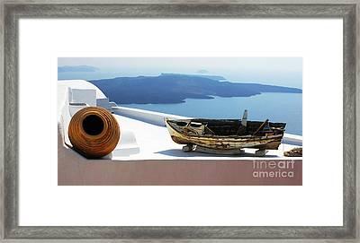 Santorini Greece Framed Print by Bob Christopher