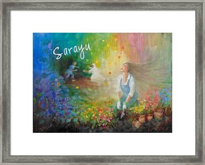 Sarayu Framed Print by Janet McGrath