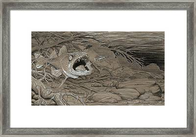 Sarlacc Framed Print by Joe Ziolkowski