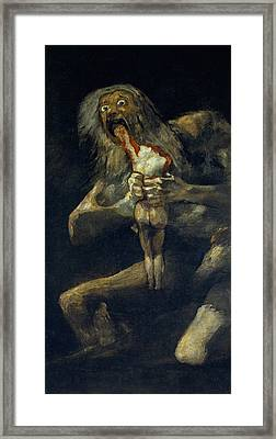 Saturn Devouring His Son Framed Print by Francisco Goya