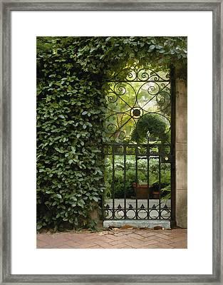Savannah Gate Framed Print