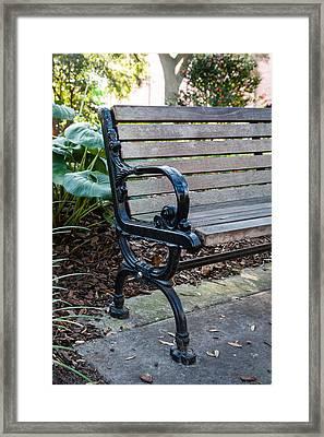 Savannah Park Bench Framed Print