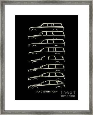 Scandinavian Wagon Silhouettehistory Framed Print by Gabor Vida