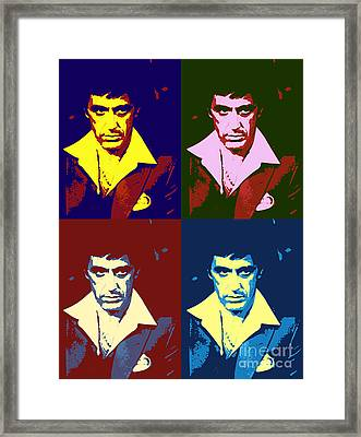 Scarface Pop Art Framed Print by Pd