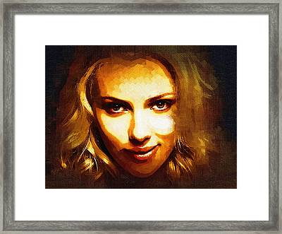 Scarlett Johansson Art Framed Print by Best Actors