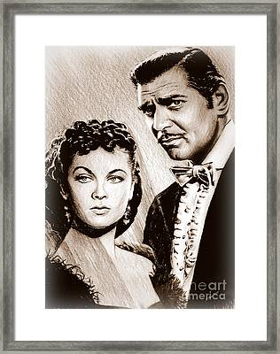 Scarlett O Hara And Rhett Butler Framed Print by Andrew Read