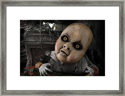 Scary Doll Framed Print by Craig Incardone