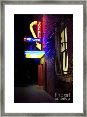 Framed Print featuring the photograph Scat Jazz Lounge 1 by Elena Nosyreva