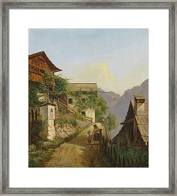 Scene Of Hallstatt Framed Print