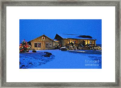 Scene Of The Season 3 Framed Print by Kathy Jennings